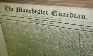 The Manchester Guardian front