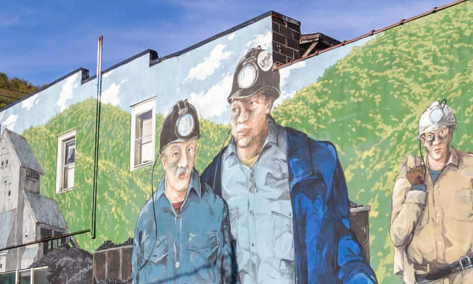 A mural on Main Street in Richwood, West Virginia.