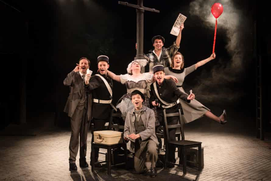 Frothy opéra bouffe … the cast of Amour.