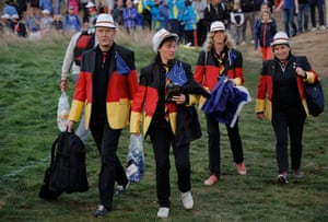 German jackets take to the course.