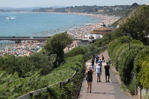 A footpath leading to the beach in Bournemouth