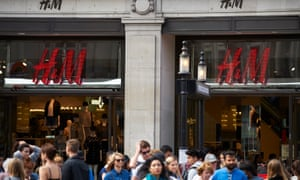 The Oxford Circus flagship store of H&;M, which was rated in the 2019 Fashion Transparency Index.