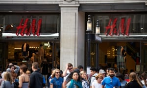 A H&M shop on Oxford Street in London