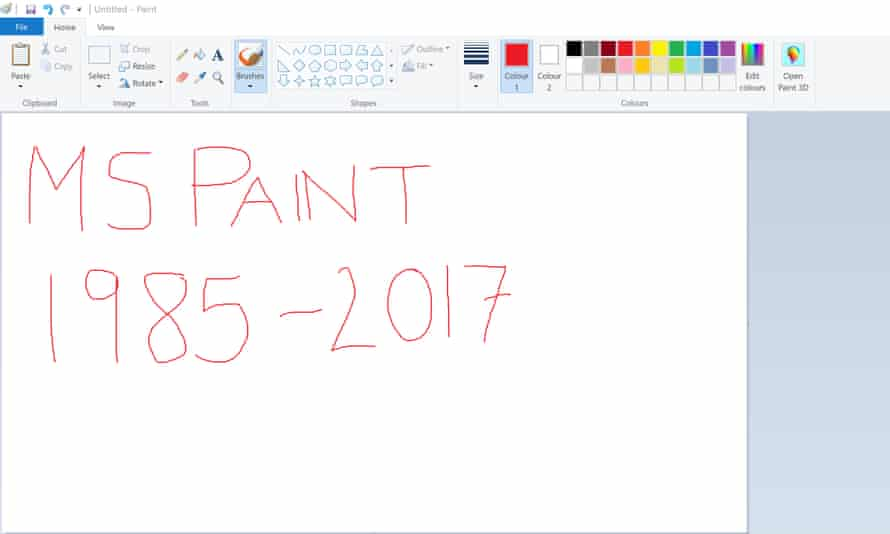 Microsoft Paint to be deprecated after 32 years.