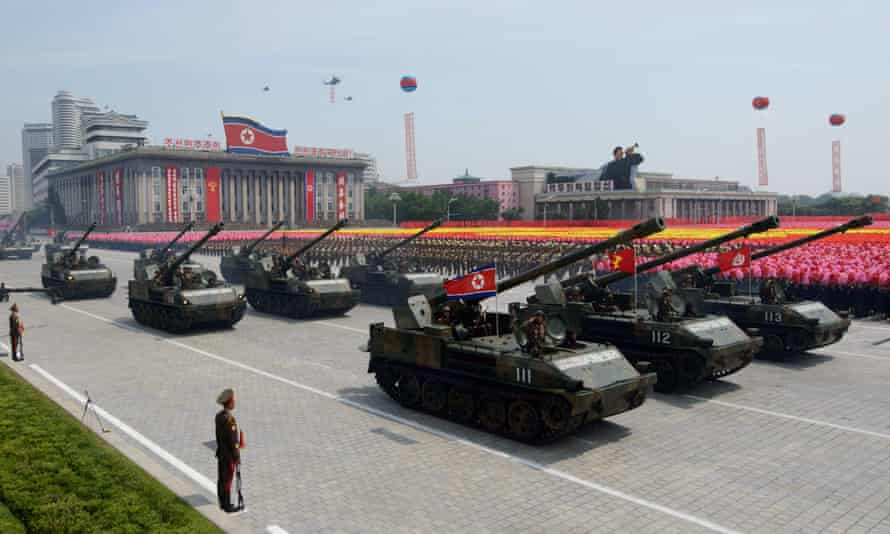 A military parade in Pyongyang. Speculation is growing that Kim Jong-un is planning the biggest ever in North Korea.