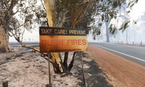 A handout photo taken on January 7, 2016 and released on January 8 by the Department of Fire and Emergency Services shows damage from a fire near Waroona in Western Australia.