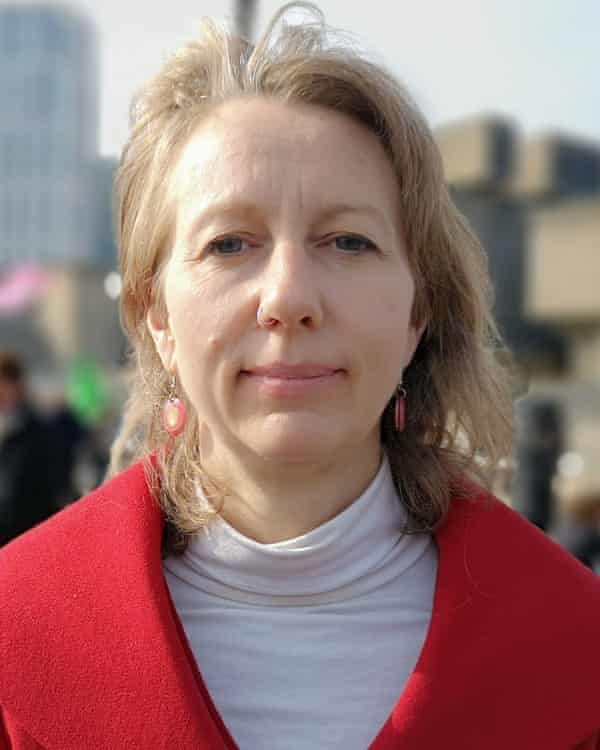 Gail Bradbrook, co-founder of Extinction Rebellion, took part in protests in London.