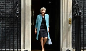 Theresa May leaves No 10. The home secretary is officially the bookies' favourite for the Tory leadership contest.