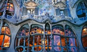 Casa Batlló in the Passeig de Gràcia, Barcelona.