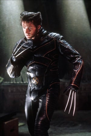 Jackman as Wolverine in the first X-Men film in 2000