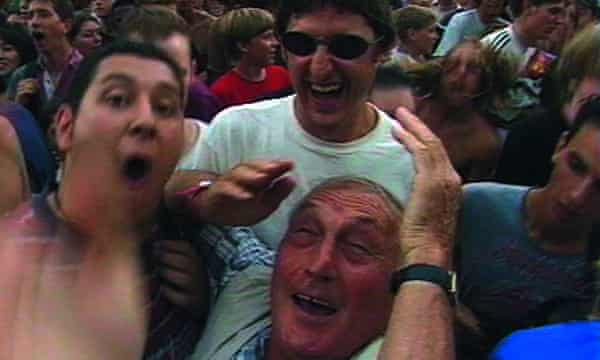 Louis Theroux and BaaadDad at the Foo Fighters, V97.