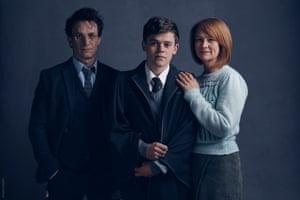Jamie Parker, Sam Clemmett, and Ginny Potter