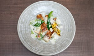 'Sugary hit': roast chicken with seared sweetcorn.