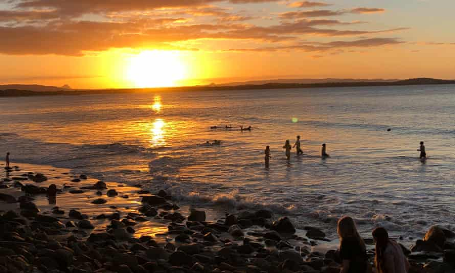 Sunset at the entrance of the Noosa National Park, Queensland