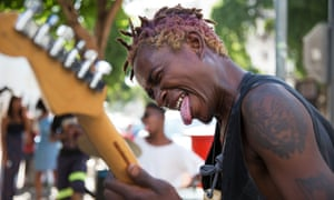 Thulasizwe Nkosi plays in the Soweto punk band TCIFY in Johannesburg.