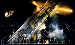 A performance of Richard Wagner's Das Rheingold at the Berlin Staatsoper, 1996, directed by Harry Kupfer.