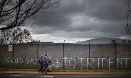 Anti-Trident protest at Faslane