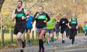 The number of Vegan Runners club members has shot up in the past three years.
