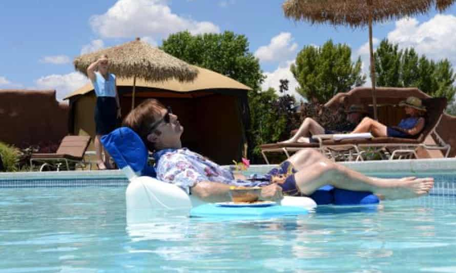 Mid-life clarity … Bob Odenkirk as Jimmy, with separate snack raft.