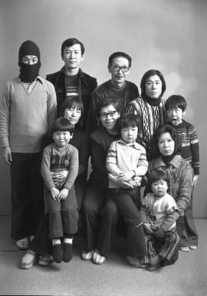 It's no surprise Fukase ended up a photographer: his family, depicted here in 1975, had a portrait studio in Hokkaido. Fukase, far left, got his start as a documentary photographer for magazines