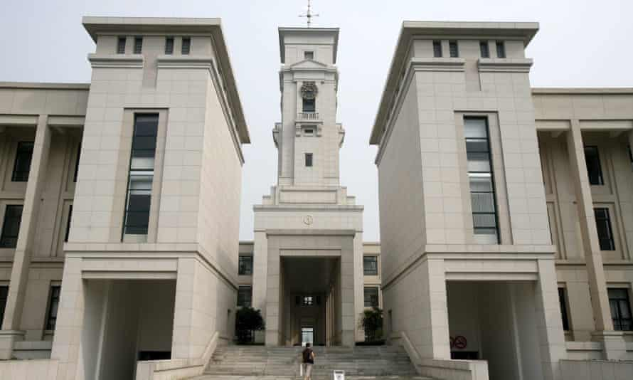 A student walks through the campus of the University of Nottingham in Ningbo, China.