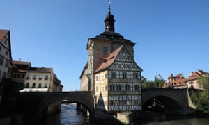 "Bamberg - the 14th century town hall ""Rathaus"""