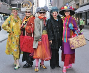 Valerie and Jean (The Idiosyncratic Fashionistas), Debra Rapoport, Diana Gabriel and Carol Markel