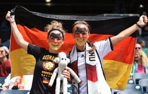 The Germans get ready for the game against Thailand