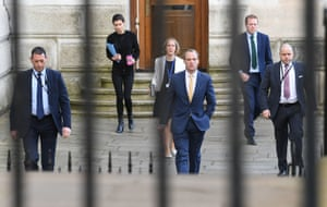 Foreign Secretary Dominic Raab arrives at 10 Downing Street, 7 April