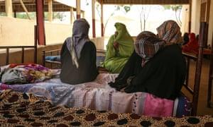 Eritrean women at a refugee camp in Sudan