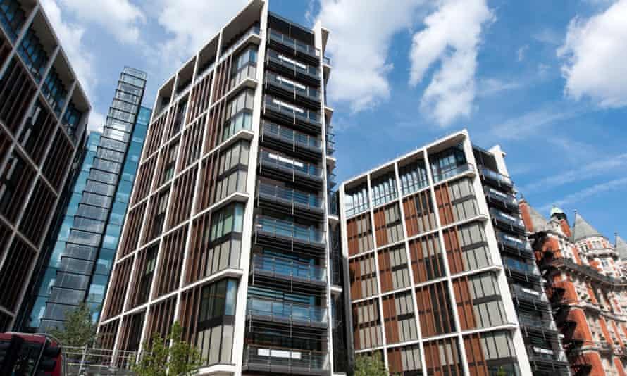 The One Hyde Park development in Knightsbridge, London