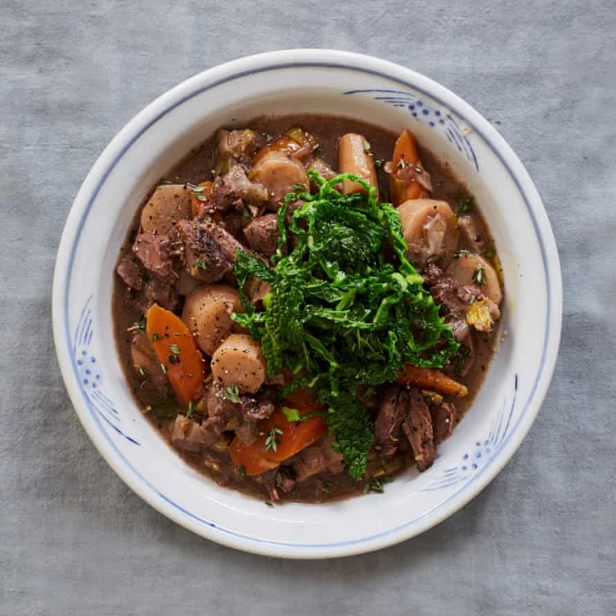 Nieves Barragán Mohacho's slow-cooked beef stew with root veg.