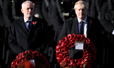 General election: parties announce policies for veterans on Remembrance Sunday – live news