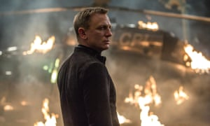 Daniel Craig in Spectre, the sixth James Bond film with writing credits for Neal Purvis and Robert Wade.