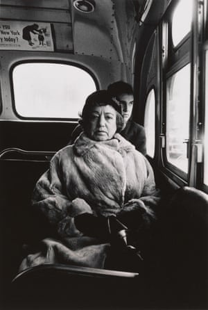 Lady on a bus, NYC, 1957