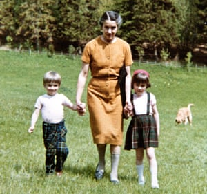 Kate Figes with her grandmother, Irma, and brother in 1961