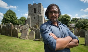 David Olusoga at St Michael's Church, Burgh-by-Sands.
