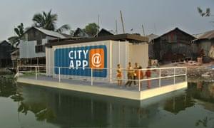 Waterstudio's Floating City Apps in a slum