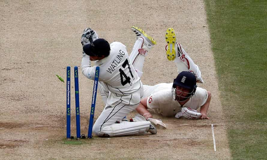 England's Dom Sibley makes his ground on the way to 60 not out in the second innings.