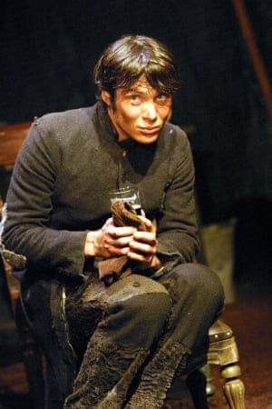 Cillian Murphy in Druid theatre company's production of Playboy of the Western World, 2004.
