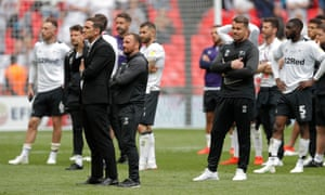 Frank Lampard's Derby County watch Villa getting their party on.