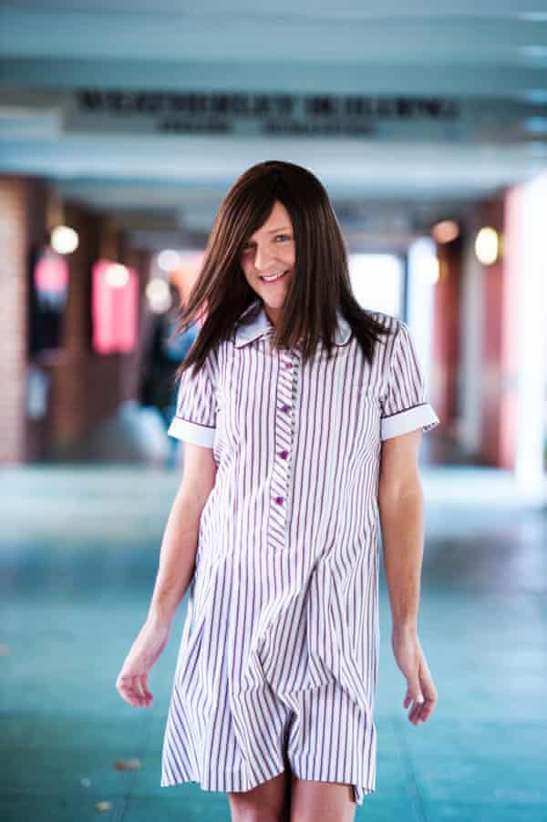 Chris Lilley as Ja'mie in Ja'mie: Private School Girl.