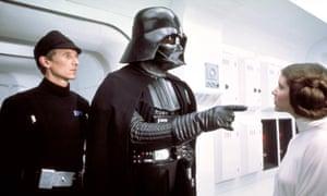 Darth Vader and Princess Leia in Star Wars