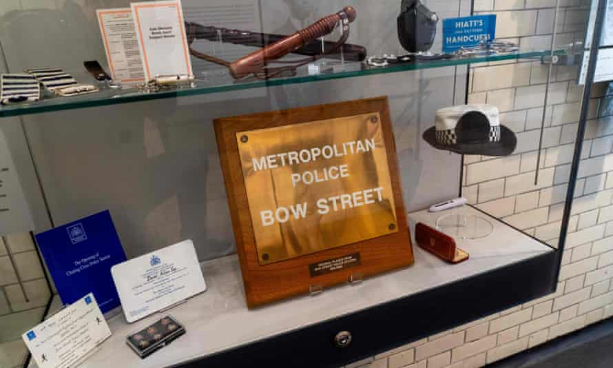 Truncheons, report books, whistles, badges and other police memorabilia are on display