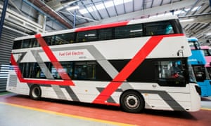 Northern Ireland's first sustainable hydrogen fuel cell bus, the Wrightbus, unveiled in January.