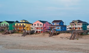 Sitting pretty: waterfront houses on the Outer Banks.