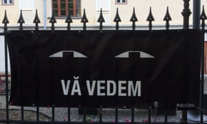 The logo of Vӑ Vedem din Sibiu,