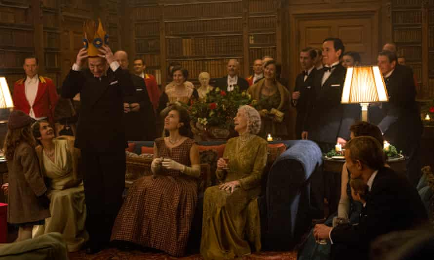 Fantastically moving … the king accepts a paper crown from a carol singer before he has told the family he is dying.