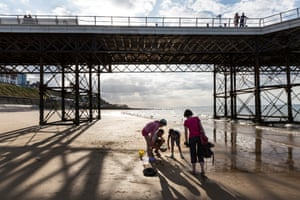 Under Cromer Pier. home to the last remaining End-of-the-Pier show in Europe, and renowned for crabbing also