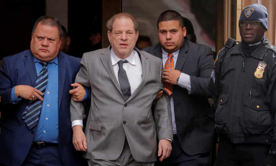 Harvey Weinstein leaves a hearing in his sexual assault case at New York State supreme court in New York.